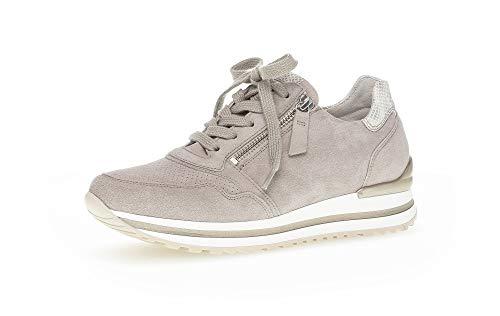 Gabor Damen Sneaker, Frauen Sport-Halbschuhe,lose Einlage,Komfortable Mehrweite (H),Women's,Woman,schnürschuhe,keil,Puder (perf.),40 EU / 6.5 UK