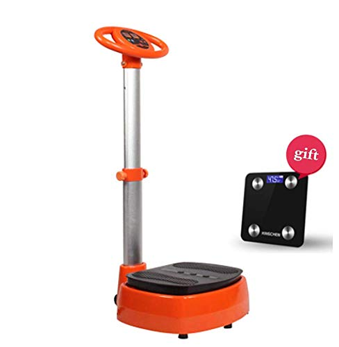 MUZILIZIYU Vibrationsplattform für Home Fitness Taille Faule Übungsmaschine Fat Ablehnung 300 Watt 15 Intensitätsanpassung 4 Vibrationsmodi Machine stehend 54x51x115cm, orange (Color : Orange)