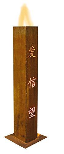 Colonne de feu 91009 - Amour - 15 x 15 x 100 cm