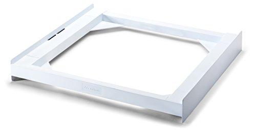 Meliconi Base Torre Basic - Kit de sobreposición de tecnopolímero para lavadora y secadora, poliuretano, color blanco, carga máxima 250 kg