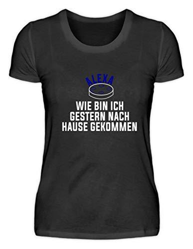 Hoogwaardig damesshirt – Alexa, hoe ben ik gisterbij thuis komen? - Eenvoudig en grappig design.