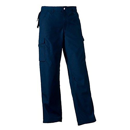 Russell Work Wear Herren Arbeitshose, robust, Standard-Beinlänge (W38 x Regulär) (Marineblau)