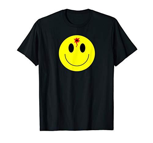 Smiley Face Bullet Hole Dead T-shirt Women Men Gift Happy T-Shirt