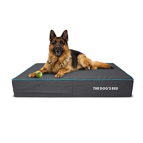 The Dog's Bed Orthopaedic Dog Bed Large Blue 101x64cm, Premium Waterproof Memory Foam Dog Bed