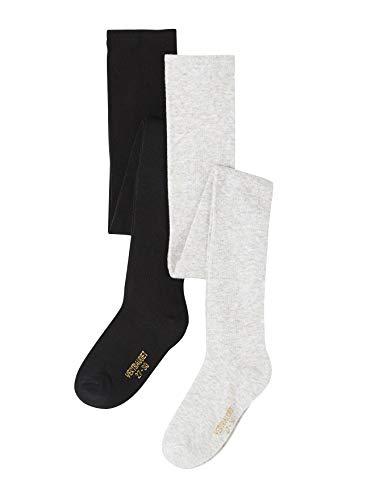 Vertbaudet - Mallas para niña con lurex (2 unidades), color negro