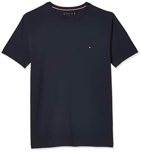 Tommy Hilfiger Herren CORE STRETCH SLIM CNECK TEE T-Shirt, Blau (Navy Blazer 416), Small