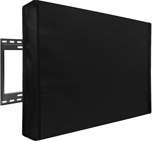 Cubierta de TV para exteriores resistente a la intemperie con cubierta inferior para TV de 30 a 32 pulgadas, protectores de pantalla de TV a prueba de agua pantalla plana al aire libre