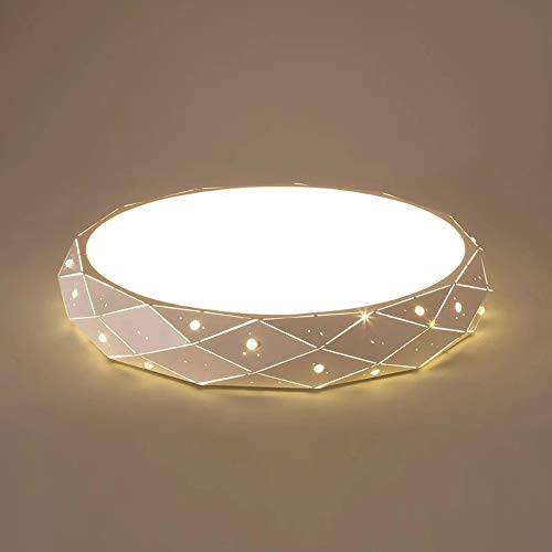Plafón LED Moderno, Lámpara De Techo Regulable, Redonda Sombra Acrílico Borde De...