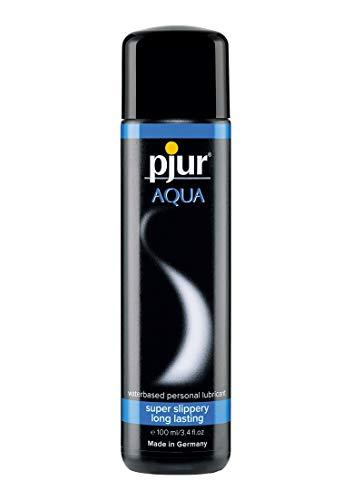 pjur AQUA - Lubricante Premium acuoso - Excelentes propiedades lubricantes, hidrata y no se pega - para juguetes sexuales - pack de 1 (1x100ml)