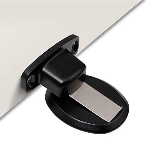 PHOEWON Metall Türstopper Türstopper Magnet Ohne Bohren Edelstahl Tür Stopper Boden, Türhalter (1 Stück,Schwarz)