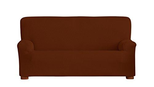 Eysa Ulises - Funda de sofá bielástica, 3 Plazas, 180 a 200 cm, Color Caldera