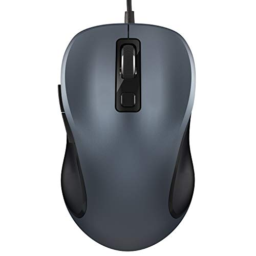 Mouse, TedGem Wired Mouse Ergonomic Mouse Computer Mouse High Performance, Mouse for Laptop For Windows 7/8/10 / XP, Vista, Linux and Mac OS(Gray)