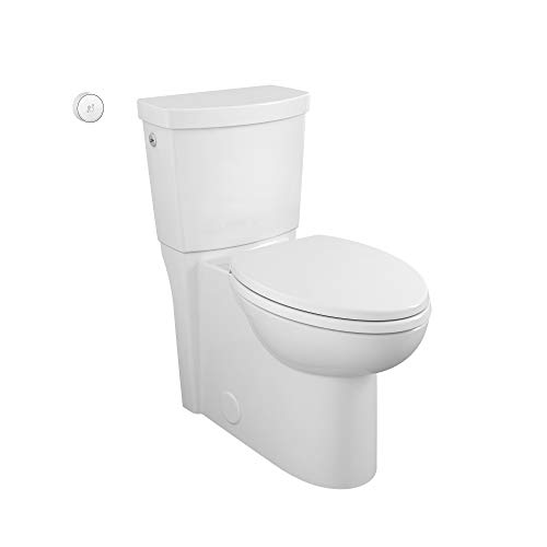 American Standard 2989709.020 Concealed Trapway Cadet Touchless 2-piece 1.28 GPF Single Flush Elongated Toilet, Seat Included, White