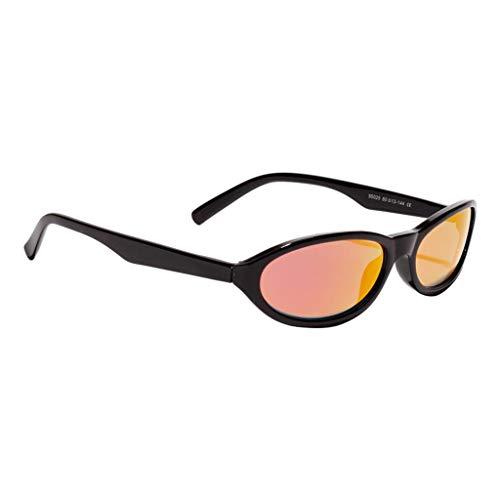 Amuzocity Gafas de Sol Vintage para Mujer, Ojo de Gato, Montura Pequeña, Retro, Anteojos UV400 - Rosado