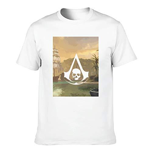Assassin Schädel Herren T-Shirt Baumwolle Top, Personalisiert - Spiele White 2XL