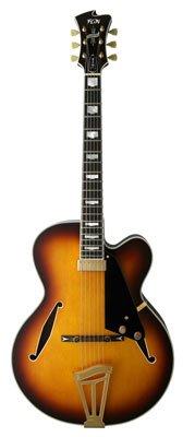 FGN Masterfield Jazz Burst - Guitarra semiacústica