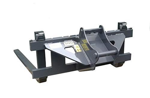 Fourche à palettes FEM 2 compatible avec Bagger Lehnhoff MS03 MS08 et Schaeff/Terex HR16 et HR32 2 longueurs de fourche, MS08 mit Gabelzinken 1200mm, unlackiert