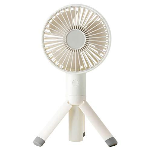NUOBESTY Mini ventilador portátil ajustable USB recargable con trípode, ventilador de escritorio para casa, oficina, regalo de cumpleaños (blanco)