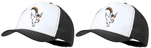 MERCHANDMANIA Pack 2 Gorras Negras CURRO Mascota Expo...