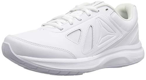Reebok Women's Walk Ultra 6 DMX MAX Sneaker, White/Steel, 9.5 M US