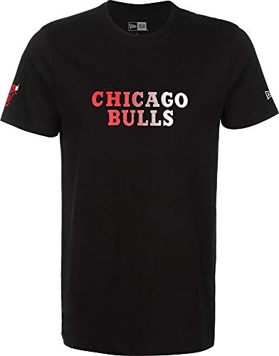 New Era NBA Gradient Wordmark tee Chibul Camiseta de Manga Corta, Hombre, Black, XS/S