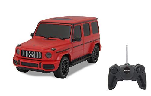 Jamara 405193 Mercedes-AMG G63 1:24 rot 27MHz-offiziell lizenziert, bis zu 1 Stunde Fahrzeit bei ca. 7 Km/h, perfekt nachgebildete Details, hochwertige Verarbeitung