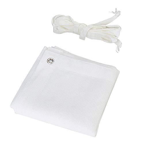 Witte zonwering net voor schaduw, 6 pins van schaduwstof, isolerend en ademend, ideaal voor jaloezieën/afdekking/gordijn LDFZ