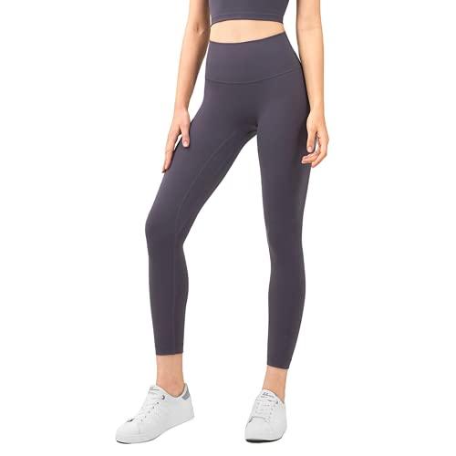 Pantalones de Yoga sin Costuras para Mujer de Color Puro, Flexiones, Celulitis, Gimnasio, Deportes, Correr, Cintura Alta, Mallas de Entrenamiento de energía F L