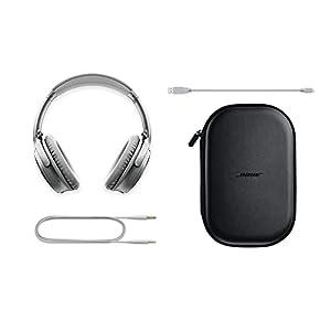Bose QuietComfort 35 (Series II) Wireless Headphones, Noise Cancelling - Silver (Renewed)