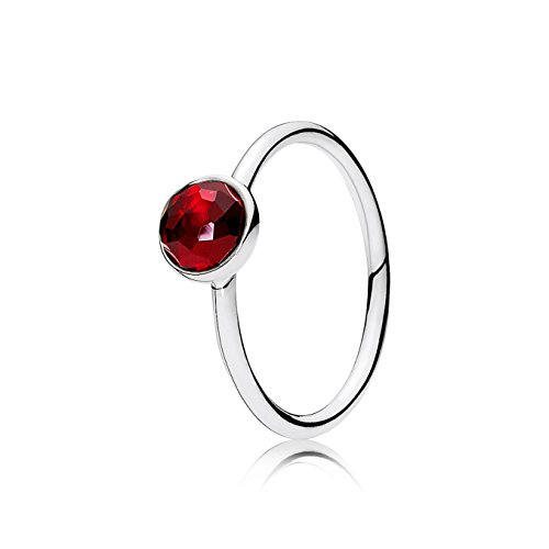 PANDORA July Droplet Ring, Synthetic Ruby, 6 US, 191012SRU-52