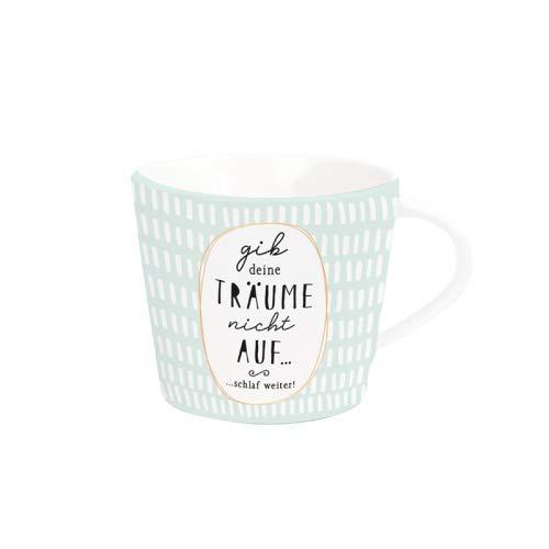 Grafik Werkstatt Kaffee-Tasse mit Echtgold | Porzellan Tasse | 420 ml | Träume