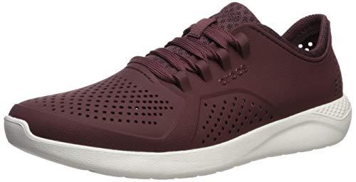Crocs LiteRide Pacer M, Zapatos de Cordones Oxford Hombre, Burdeos (Burgundy/White), 46 EU