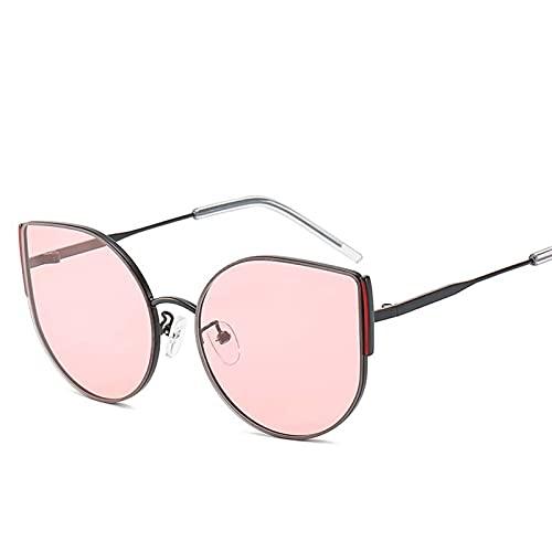 AMFG Personalidad gafas de sol gafas de sol europeas y americanas marco de metal gafas de sol gafas de sol de hombre tendencia (Color : E)