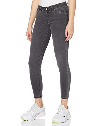 edc by ESPRIT Damen Slim Low Rise Jeans, 922/GREY MEDIUM WASH, 28W / 30L