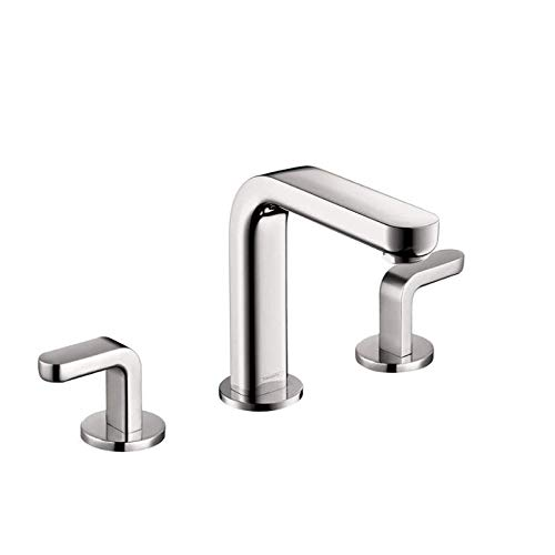 hansgrohe Metris S Modern Low Flow Water Saving 2-Handle 3 6-inch Tall Bathroom Sink Faucet in Chrome, 31067001