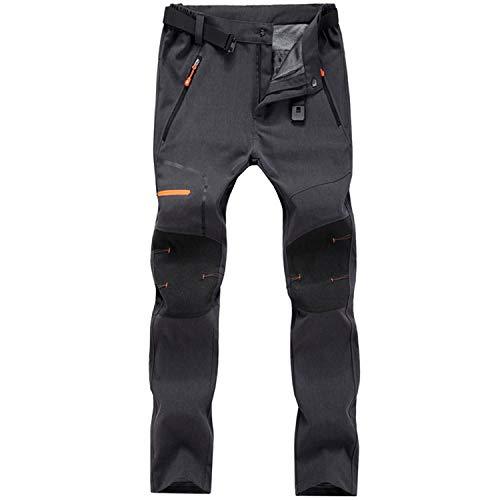 Freiesoldaten - Pantalones de senderismo y caza para hombre, impermeables, cortavientos, con cinturón, Hombre, color 02 Gris, tamaño M: Waist:32.2'-34.6'