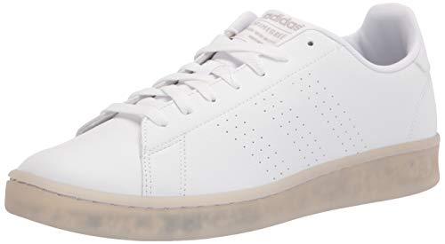 adidas mens Advantage Eco Sneaker, White/White/Grey, 10 US