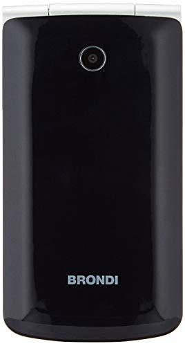 Brondi Magnum 3 Telefono Cellulare Maxi Display, Tastiera Fisica, Doppia SIM, 1.3 MP, Li-ion 800 mAh, Nero