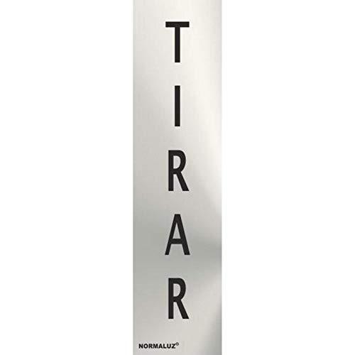 RD707072 - Señal Adhesiva Rectangular Tirar Acero inoxidable Adhesivo 0,8 mm 5x20 cm con CTE, RIPCI Nueva Legislación