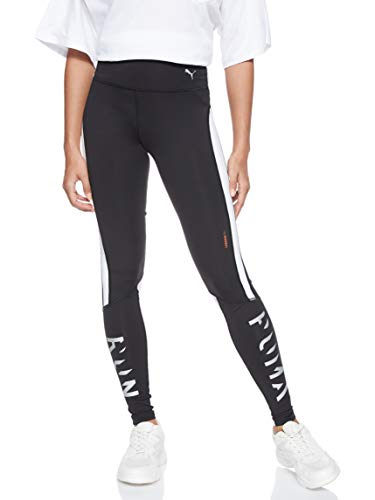 PUMA Damen Get Fast Thermo-R+ Tight Leggings, Black White, M