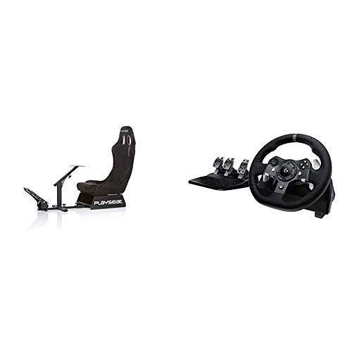 Playseat Alcantara, Nuovo modello Logitech G920 Driving Force Racing Wheel Volante da Corsa, Pedali Regolabili, Ritorno di Forza Reale, lrm;Comandi Cambio in Acciaio Inossidabile