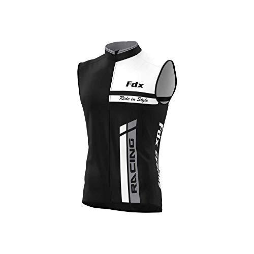 FDX Chaleco de ciclismo para hombre transpirable Windstopper Running Soft shell térmico Ciclismo Chaleco