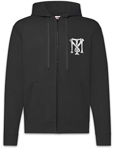 Urban Backwoods Tony Montana TM Logo Zip Hoodie Sweat à Capuche pour Homme Noir Taille M