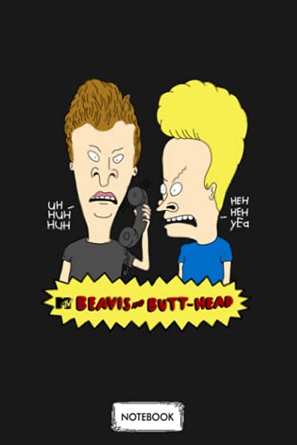 Beavis And Butt Head Notebook: Planner, Diary, Lined College Ruled Paper, Matte Finish Cover, Journal, 6x9 120 Pages