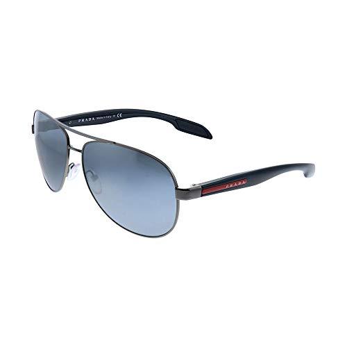 Prada LINEA ROSSA Benbow Gafas de Sol, Gunmetal, 62 para Hombre