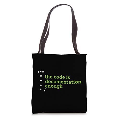 Funny Programmers Documentation Code Nerd Xmas Gift Tote Bag
