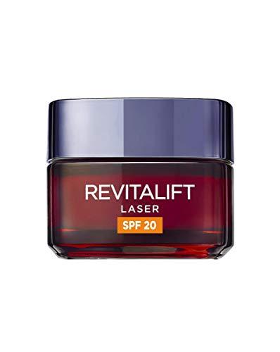 L'Oréal Paris Revitalift Láser Crema de Día Anti-Edad Triple Acción, Protección Solar SPF 20, 50 ml