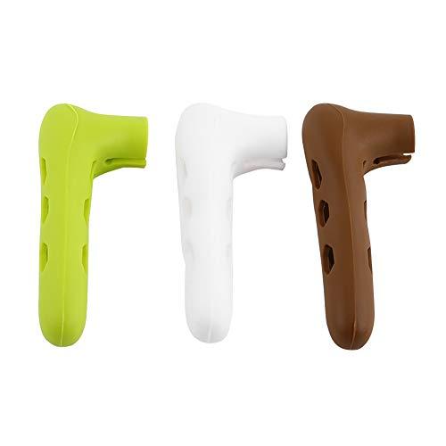 Tapa de la perilla de la puerta - Tapa de seguridad de la perilla de la puerta de silicona for anticolisión (3 colores) (Color : Blanco)