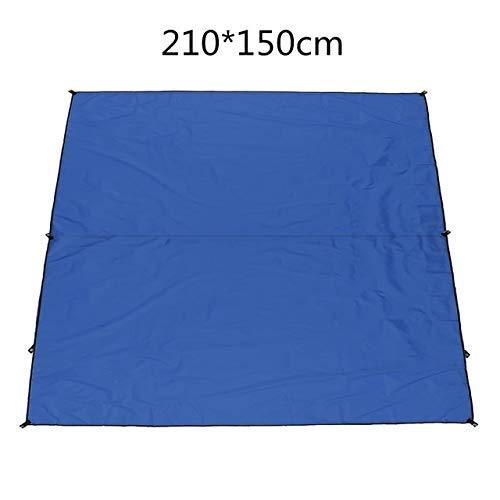 HUANGRONG Impermeable Refugio Sol sombrilla de protección Exterior del pabellón Jardín Patio Piscina Sombra Tienda Toldo de Vela Comida campestre Que acampa Arena Desgarro (Color : Blue 210x150cm)
