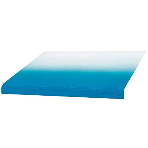 RV Awning Fabric 12' | Blue | Width Size Options | 8' (96') Length RV Awning Replacement | Standard Grade Vinyl (12 Feet)